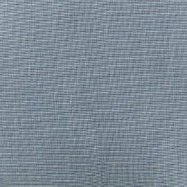 Tissu Toile plein air (320cm) chiné - bleuet x 10cm