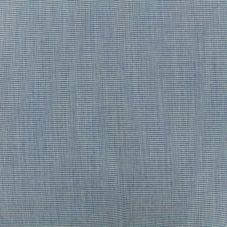 Outdoor Oeko-Tex Mottled canvas fabric - dark blue  x 10cm