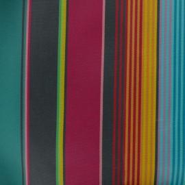 Tissu Toile plein air enduit Dralon® Sunny Sydney (160cm) - lagon x 10cm