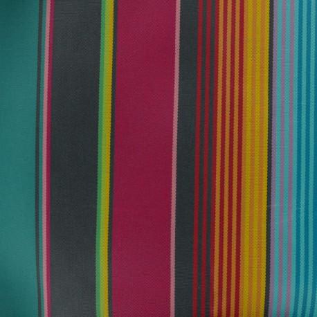 Tissu Oeko-Tex Toile plein air enduit Sunny Sydney - lagon x 10cm