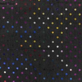 Dots jean fabric - dark blue x 10cm