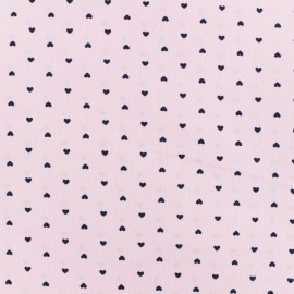 Poly cotton fabric Small heart - pink  x 10cm