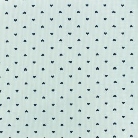 Tissu Polycoton Small heart - vert d'eau x 10cm