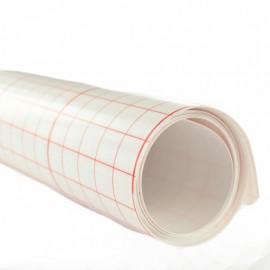 Polyphane adhésif 25/100 blanc quadrillé  x 10 cm