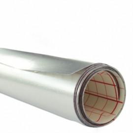 Polyphane argent brillant adhésif 30/100 quadrillé  x 10 cm