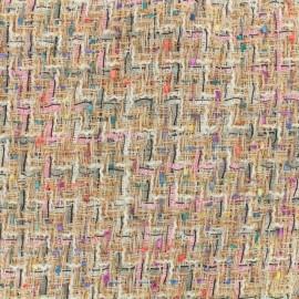 Tissu Tweed Carnaval - multi blush x 10cm