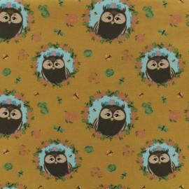 Oeko-Tex Jersey fabric Hibou chou - mustard x 10cm