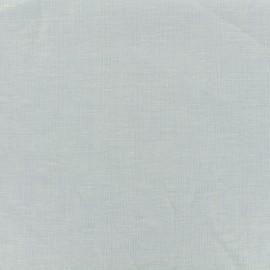 Plain light linen viscose fabric - light blue x 10cm