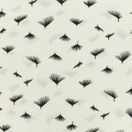 Tissu crêpe Small Dandelion - blanc x 10cm
