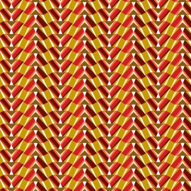 Cretonne cotton Fabric Phraon - red x 10cm