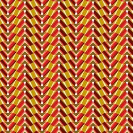 Tissu coton cretonne Pharaon - rubis x 10cm