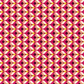 Cretonne cotton Fabric Kheops - fuschia x 10cm