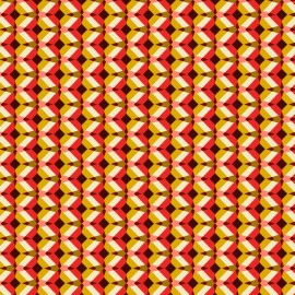 Cretonne cotton Fabric Kheops - red x 10cm