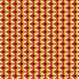 Tissu coton cretonne Kheops - rouge x 10cm