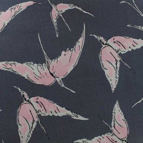 Jacquard fabric Birds - blue x 15cm
