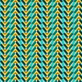 Tissu coton cretonne Pharaon - emeraude x 10cm