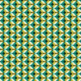 ♥ Coupon 20 cm X 150 cm ♥ Cretonne cotton Fabric Kheops - emerald