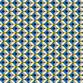 Tissu coton cretonne Kheops - saphir x 10cm