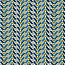 Tissu coton cretonne Pharaon - saphir x 10cm