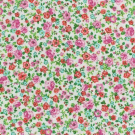 Cretonne cotton Fabric Lise - poppy x10cm