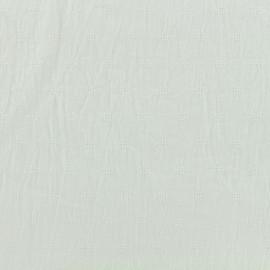 Tissu coton froissé motifs ajourés - blanc x 10cm