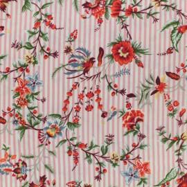 Tissu crêpe Sweet Stripes - rose x 10cm