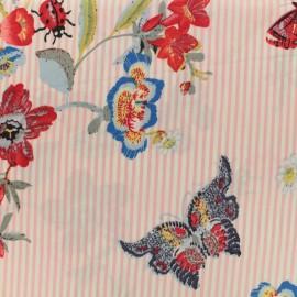 Tissu crêpe Sweet Spring - rose x 20cm