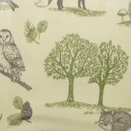 Tissu coton enduit New forest - écru  x 30cm