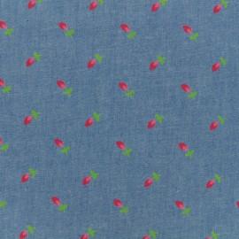 Fluid jeans fabric Tulip - medium blue x 10cm