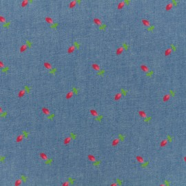 Tissu Jeans fluide Tulip - bleu moyen x 10cm