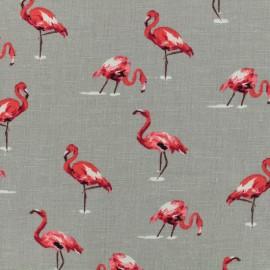 Tissu lin viscose Flamingo by penelope® - gris x 10cm