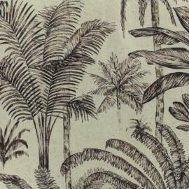 ♥ Coupon 100 cm X 140 cm ♥ Linen Fabric Tropical forest - natural