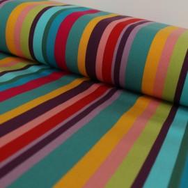 Tissu Toile Transat Playa Caracas - turquoise x 10cm