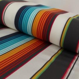 Tissu Toile plein air Playa Cancun - turquoise x 10cm