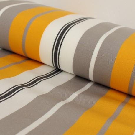 Tissu Toile plein air Playa Bastia - jaune x 10cm