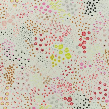 Tissu toile de coton Cotton Steel Collaboration collective. Solid lawn - blanc x 10cm