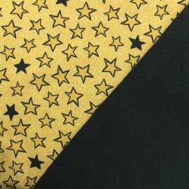 Stars Nano-tex Water-repellent Softshell fabric – yellow x 10cm