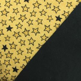 Tissu Softshell Stars - jaune x 10cm
