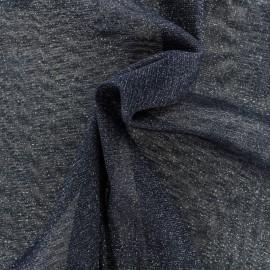 Tulle souple lurex noir - argent x10cm