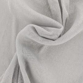 ♥ Coupon 45 cm X 160 cm ♥ Tulle souple lurex gris - argent