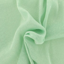Tulle souple lurex vert jade - argent x10cm