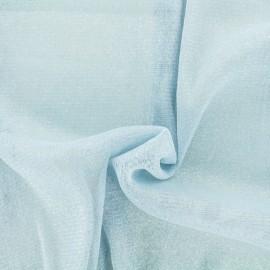 Tulle souple lurex ciel - argent x10cm