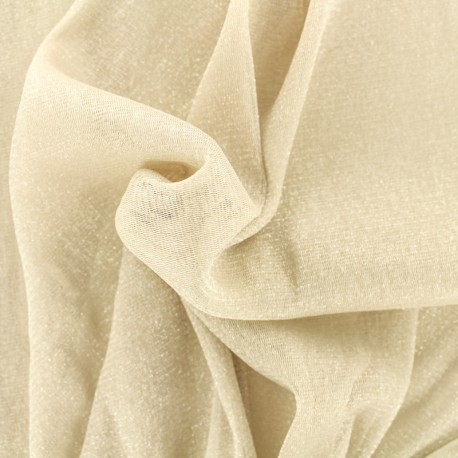 Lurex Flexible Tulle nude - silver x 10cm