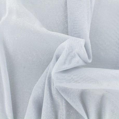 Tulle souple lurex perle - argent x10cm