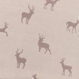 Tissu jersey léger cerf - rose poudré x 10cm