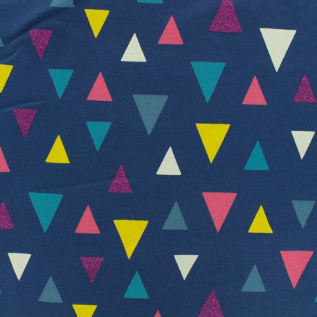 Jersey cotton Triangle - navy x 10cm