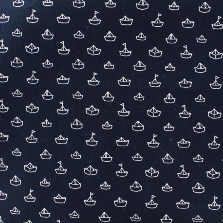 Tissu popeline dapper marine x10cm for Drap housse coton bio