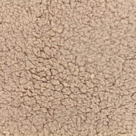 Fourrure Oeko-Tex mouton - rose clair x 10cm