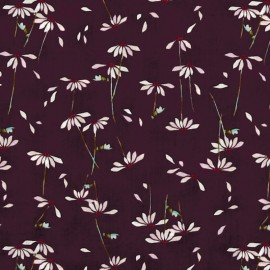 AGF cotton fabric He loves me - Plum x 10cm