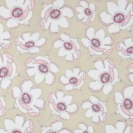 Tissu voile de coton AGF Cherie - Magnolia x 10cm